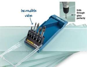 Glass & tile drill bit set £4.99 from Aldi