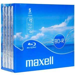 Maxell 25GB BD-R - 5 Pack - £7 - WIlkinsons (INSTORE)
