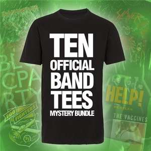 Ten Official Band T-shirts for only £14.50 - Mystery bundle pack @ Play sold by MAMRETAIL