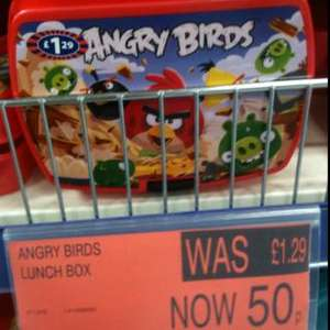 Angry birds lunchbox now 50p @ B&M