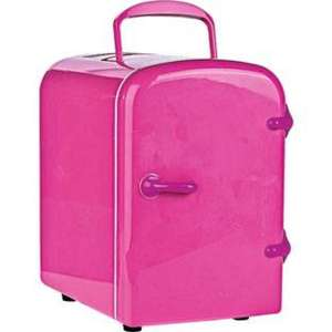 4 Litre Pink Mini Fridge, Reduced To £15.99 R&C @ Argos