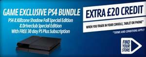PS4 for £139 When You Trade in Your Black Wii U @GAME
