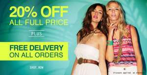 20% Off all full priced items + Free delivery @ internationale