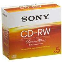 Sony CD-RW  700Mb with  Case Pack of 5 £1.00 @ POUNDLAND