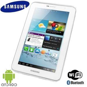 "SAMSUNG GALAXY TAB 2 GT-P3110 7"" 1GHz DUAL CORE 8GB HDD WHITE ANDROID 4.0 - Refurbished - £119.99 @ Tesco eBay Outlet"