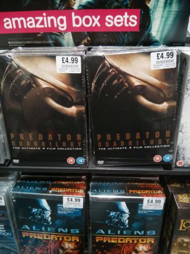 Predator Quadrilogy DVD £4.99 in HMV
