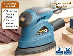130w Detail sander with TEN sanding sheets and 3year warranty £12.99 @ Aldi