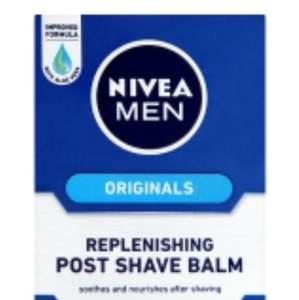 Nivea For Men Replenishing Post Shave Balm 100ml Asda £1.50
