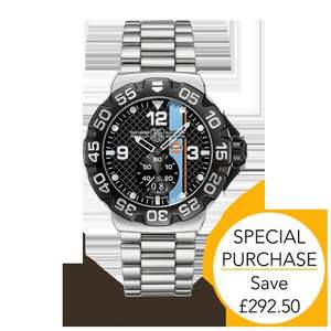 TAG Heuer Formula 1 Gulf watch Limited Edition - possible Quidco 10% £682.50 @ Goldsmiths