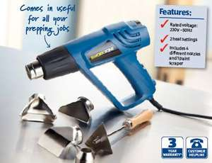 Hot Air Gun Set 2000W - 3 year warranty £9.99 @ Aldi