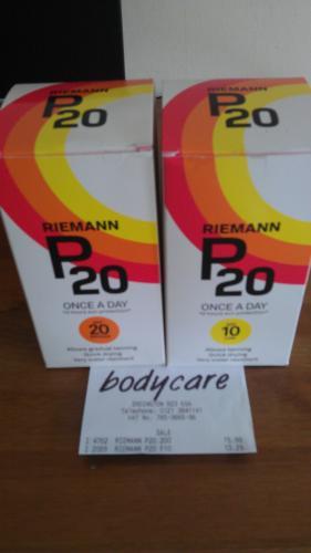 Riemann P20 sun protection 200ml £13.29 @ Bodycare