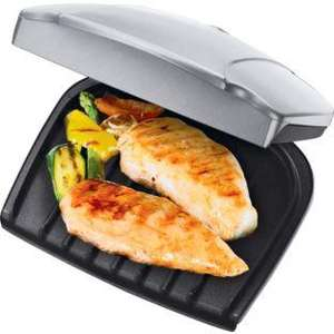 George Foreman 17894 2 Portion Health Grill - Silver ARGOS REDUCED TO ONLY £13.99
