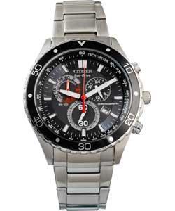 Half Price - £99.99 Citizen Men's Black Eco-Drive Chronograph Watch @ Argos
