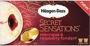 Haagen-dazs secret sensations (2x100ml)  £ 1.00 at Heron Foods (Chocolate fondant, Meringue & raspberry fondant, or Creme brulee)