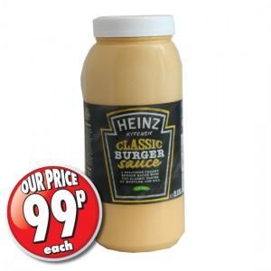 Heinz Classic Burger Sauce 2.15L 99p @ 99p stores