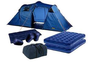 Halfords 4 Man Tent Pack - WEB EXCLUSIVE £59.99 - TODAY ONLY! Was £149.99