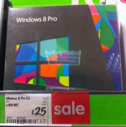 Windows 8 Pro - £25.00 - ASDA [Instore - Beckton]