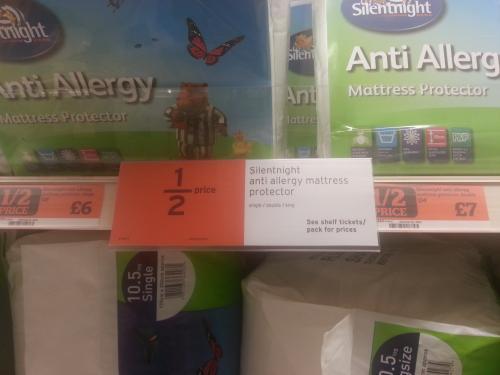 Silentnight Anti Allergy Mattress Protectors Half Price in Sainsburys £6-£8
