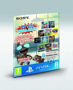PS Vita Mega Pack – 10 games and an 8GB Memory Card for €39.99
