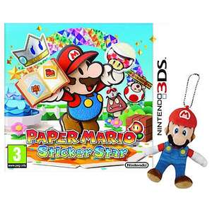 Super Mario Sticker Star (plus keyring) - Nintendo 3DS - John Lewis £26.95 (or £23 via Flubit).