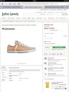 John Lewis  half price on some converse kids  from £12.50