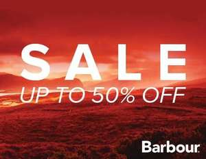 Barbour End of Season Sale starts today... Up to 50% Off