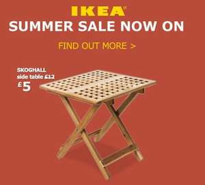 Ikea 'Skoghall' hardwood lattice folding side table £5 instore @ Ikea down from £12