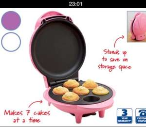 Mini Cupcake Maker 3 colours £9.99 at Aldi from 27th June / £20 on Ebay, Amazon