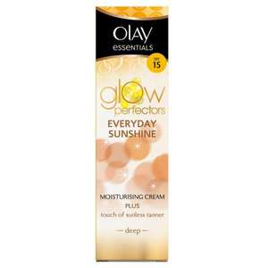 Olay Essentials Complete Care Everyday Sunshine Deep Sun-Kissed Glow 50 ml £2.99 Delivered at Amazon UK sold by O.P Healthcare.