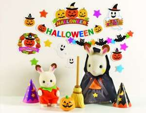 Sylvanian Families Halloween Set with Figures & Dressing Up Accessories now £4.20 delivered @ Amazon
