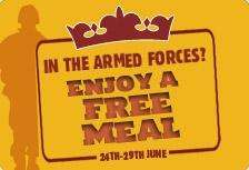 Armed Services Eat Free at Their Local Crown Carvery