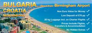 Free Birmingham airport parking wyb summer holiday to Bulgaria with balkanholidays