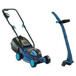 Tesco lawnmower and strimmer pack £50 instore and online