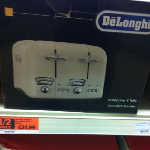 Delonghi argento 4 slice toaster cream £34.99 @ Sainsburys