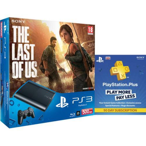 New Sony PlayStation 3 Slim Console (500 GB) - Black - Includes Last Of Us, PSN 90 Day Subscription @ zavvi - £199.99