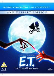 E.T. The Extra Terrestrial (Blu-ray + Digital Copy + UV Copy) [1982] £5.77 @ Amazon