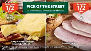 Pick of The Street Deli Counter Gammon Ham per 100g - 46p (better than half price) @ Morrisons