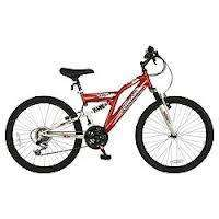 "Terrain Atlas 24"" Dual Suspension Mountain Bike was £85 now £60 @ Tesco"