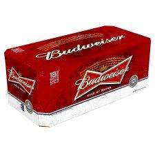 18 cans of Budweiser 440ml for £12 @ Tesco
