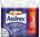 Andrex Gorgeous Comfort Quilts White Toilet Tissue Rolls - 160 Sheets per Roll - 24 rolls for £7.50 (2x12) instore @ Tesco @ Sainsbury's