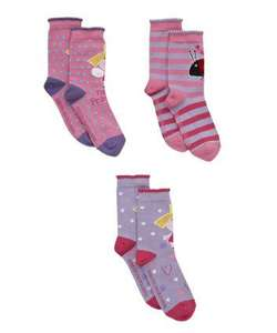 Ben and holly 3 pack children's socks half price £3 at mothercare