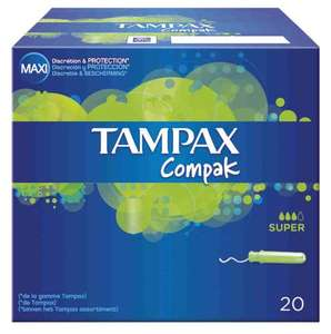 Tampax Compak Super x20 67p at Tesco Express