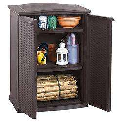 Keter Outdoor Storage Shed - Rattan Style