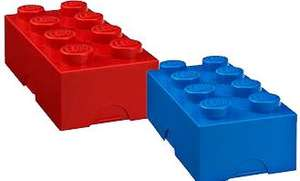 LEGO Red @ Blue brick lunch box RRP £9 NOW £3.82 EACH with codes (Debenhams)