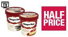 Half Price Häagen-Dazs Ice Cream 500ml @ Coop - £2.44