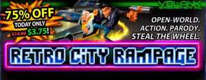 Retro City Rampage PC Version DRM free/Steam code £2.51