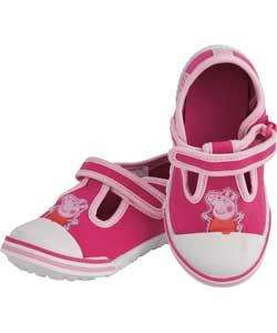 Peppa pig childrens canvas shoes pink sizes 6,7,8,9, at argos - third off £4.65 from £6.99