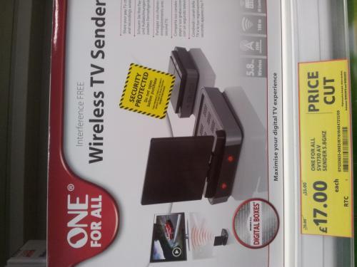 Wireless TV Sender £17 ! was £70 was £35 TESCO IN STORE