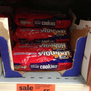 Mcvities hobnob cookie choc and hazelnut - Sainsburys 55p