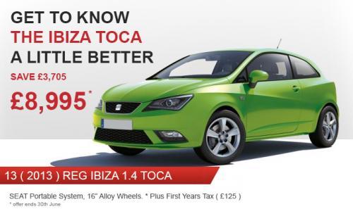 New SEAT Ibiza 1.4 TOCA (Sat Nav, 16in Alloys, A/C) - £8995 @ Westgate